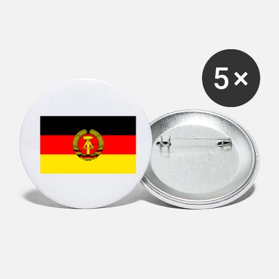 Nostalgia Buttons - GDR flag - Small Buttons white