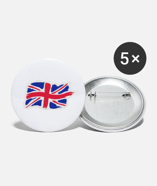 Great Britain Buttons - unionjackbrush2 - Small Buttons white