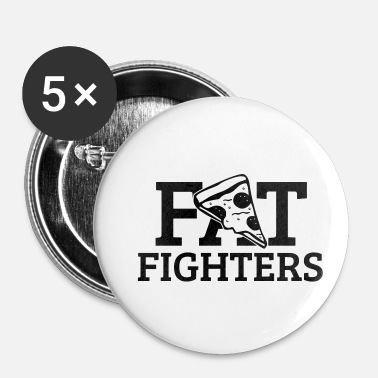 Fighter Fat Fighters - Buttons klein 25 mm (5-pack)