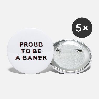 PROUD TO BE A GAMER saying shirt - Small Buttons