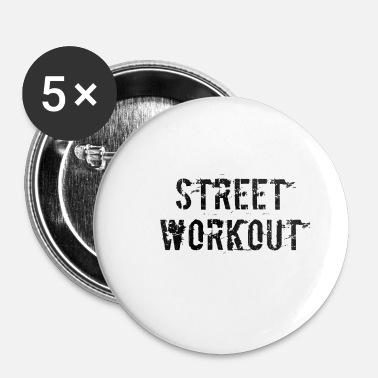 Workout straat workout - Buttons klein 25 mm (5-pack)