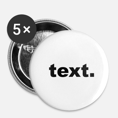 Texte texte - Badge petit 25 mm