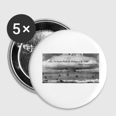 Atomic bomb and Oppenheimer - Buttons small 25 mm