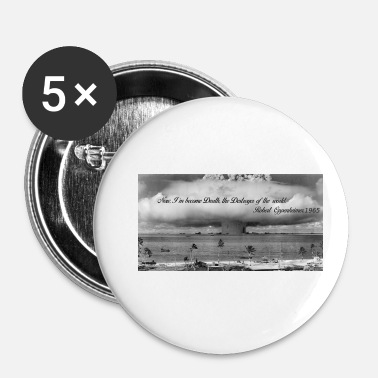 Atomic Bomb Atomic bomb and Oppenheimer - Buttons small 25 mm