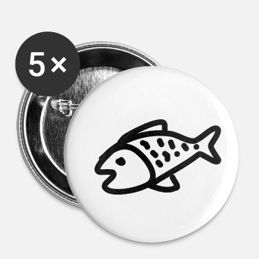 Poison Poisson poisson - Badge petit 25 mm