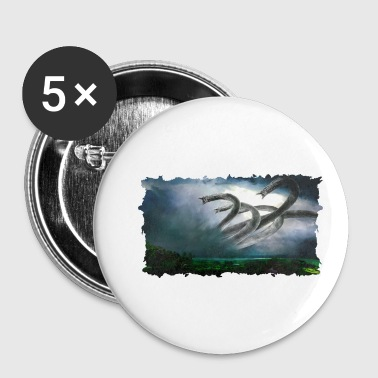 Griekse Mythologie Gigantic Hydra creature Griekse mythologie - Buttons klein 25 mm