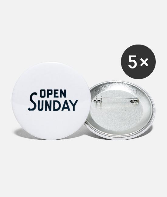 Year Buttons - Open Sunday - Small Buttons white
