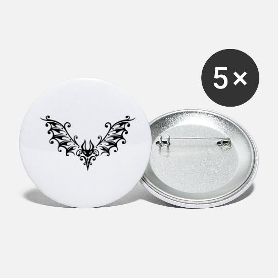 Gothic Buttons - Filigree bat, small blood sucker. - Small Buttons white