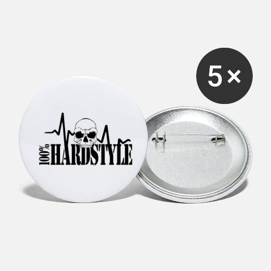 Hard Bass Buttons - 100% Hardstyle - Small Buttons white