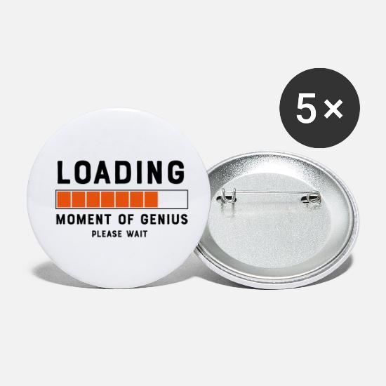 Prime Buttons - Loading Move Of Genius Please Wait - Small Buttons white