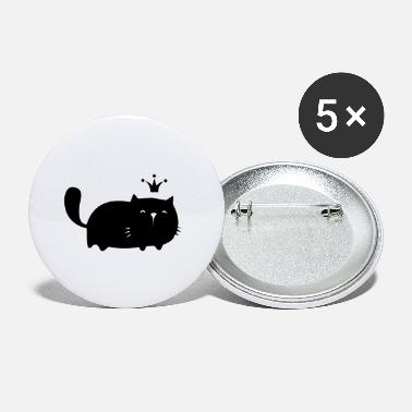 Cosy King Black Cat - Small Buttons