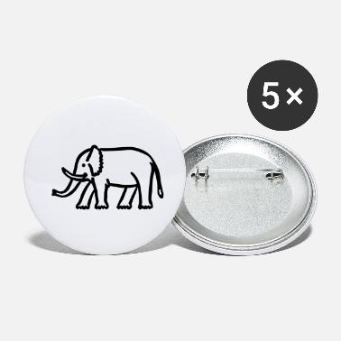 Drawing elephant - Small Buttons