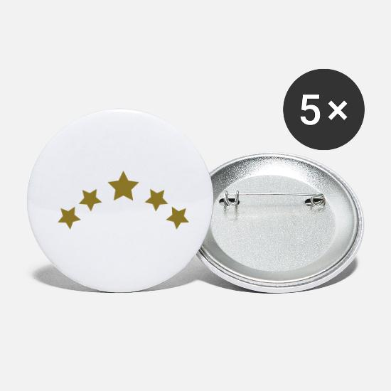 Star Badges - couronne - Petits badges blanc