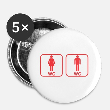 Toilettes toilettes - Badge petit 25 mm