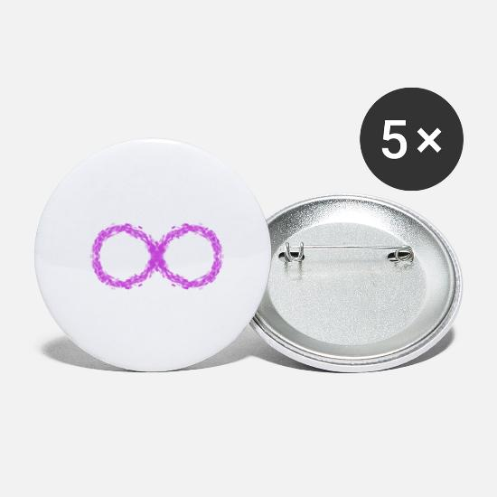 Spiritual Buttons - The lying eight. spiritual symbol. - Small Buttons white
