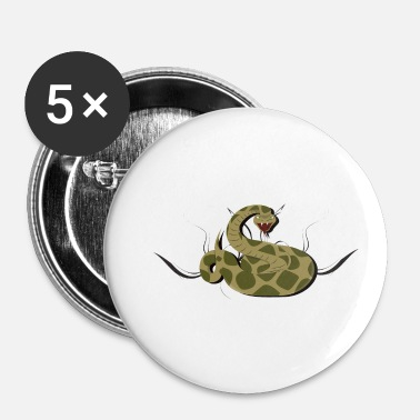 Gift Giftig slange Giftig slange Viper gift giftig - Buttons/Badges lille, 25 mm