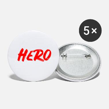 Sport Hero, red font, white outline - Small Buttons