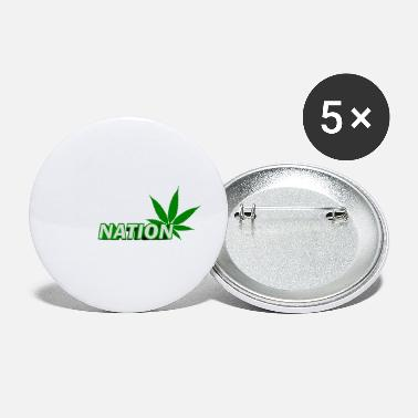Cannabisleaf healing of the nation cannabis - Small Buttons