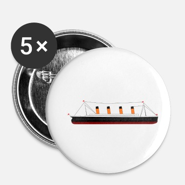 Titanic Titanic - Buttons small 1''/25 mm (5-pack)