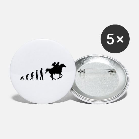 Gift Idea Buttons - Evolution couple on horse Romantic - Small Buttons white