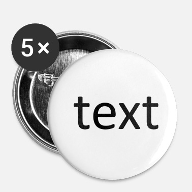 Texte text - Badge petit 25 mm