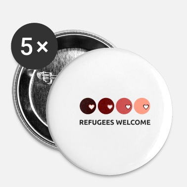 Refugees Welcome Refugees welcome - Buttons small 1''/25 mm (5-pack)