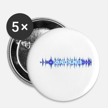 Sound Sound Engineer Sound Engineering Gift Audio Wave - Buttons klein 25 mm