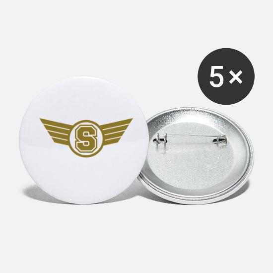 Emblem Buttons - S Design - Small Buttons white