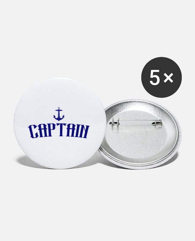 Wave Buttons - Captain - Small Buttons white
