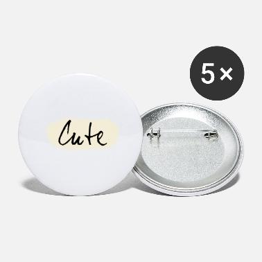 Cute Cute, cute, cute, imprint - Small Buttons