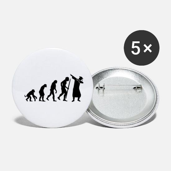 College Buttons - Evolution dab dabbing graduation college student - Small Buttons white