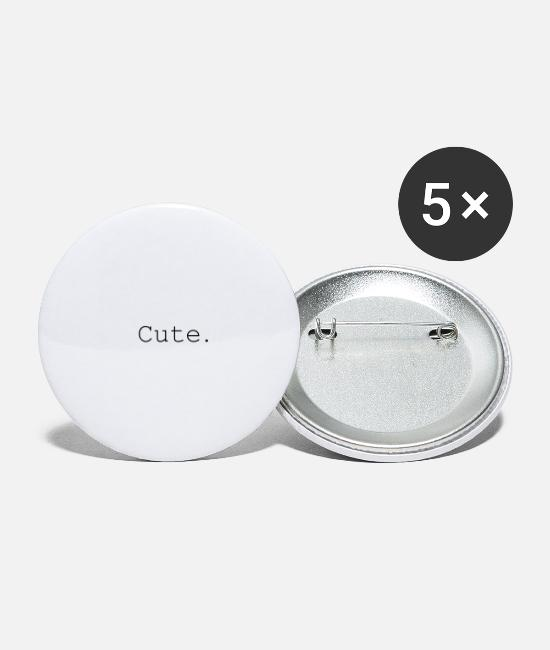 Hardstyle Buttons - Cute - Small Buttons white