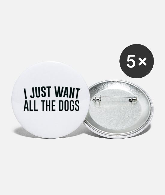 Companion Buttons - Just want all the dogs - Small Buttons white