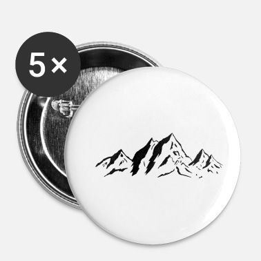 Berge - Buttons klein 25 mm (5er Pack)
