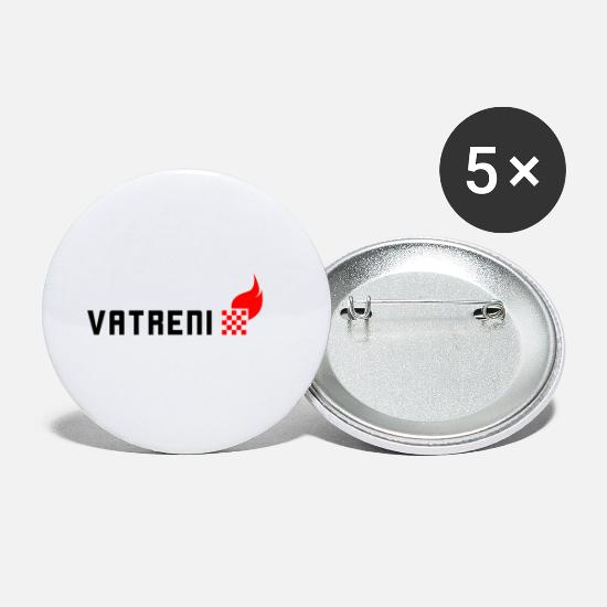 Croatia Buttons - Vatreni Croatia Soccer National Team - Small Buttons white