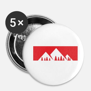 Bjerg Bjerget ringer - bjerg, bjerge - Buttons/Badges lille, 25 mm