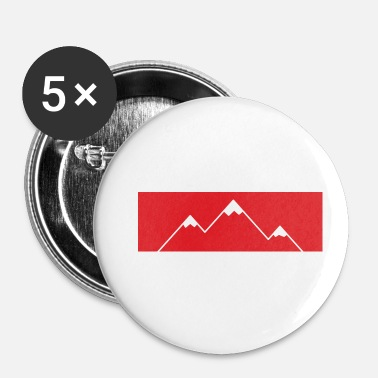 Bjerg Bjerget ringer! - Bjerge, bjerge - Buttons/Badges lille, 25 mm