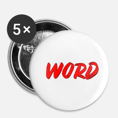 Woord woord - Buttons klein 25 mm (5-pack)