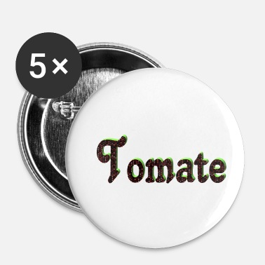 Luxe tomate - Badge petit 25 mm