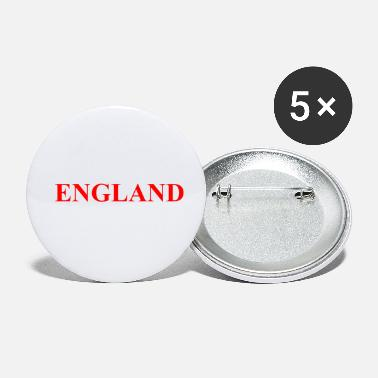 Three Lions England - Slogan Quote Soccer - Three Lions - GB - Small Buttons