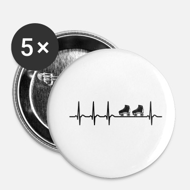 Roller shirt roller Heartbeat Roller Derby cool - Badge petit 25 mm