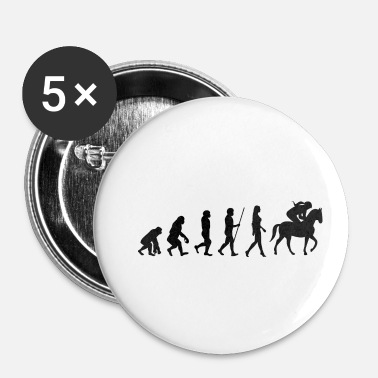 Galop Evolutie ruiter paarden galop paardensport - Buttons klein 25 mm (5-pack)