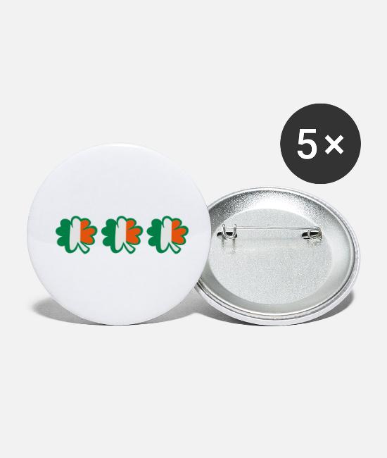 Best Awesome Superb Cool Amazing Identity Ethnicity Race People Language Country Design Buttons - ♥ټ☘Kiss the Irish Shamrocks to Get Lucky☘ټ♥ - Small Buttons white