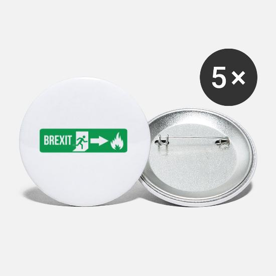 England Buttons - Fire Brexit - Small Buttons white