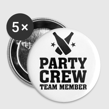Party Crew Team Member partys feest bierfles bier  - Buttons klein 25 mm