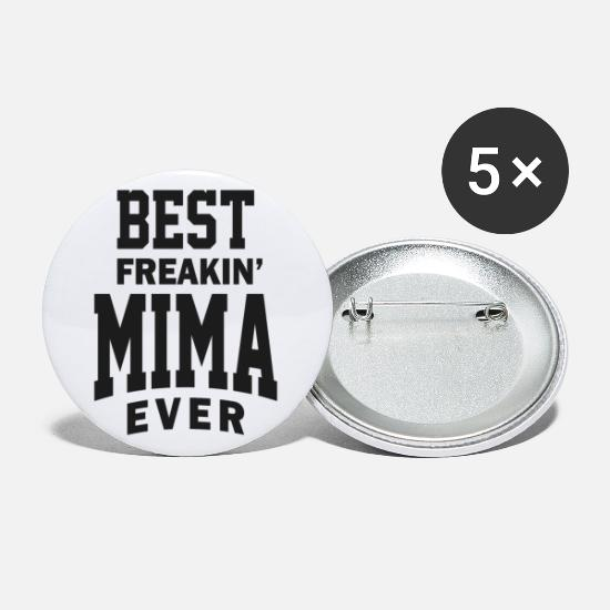 Meme Buttons - Best Mima - Small Buttons white