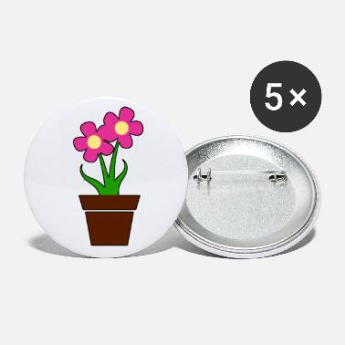 Flower Pot Potted flower pink gift idea - Small Buttons
