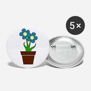 Flower Pot Potted flower blue gift idea - Small Buttons