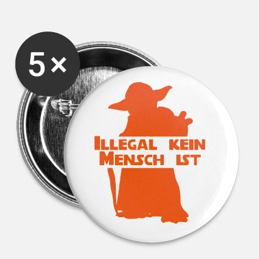 Yoda Master Yoda: Illegal is not human - Buttons small 25 mm