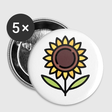 Flower Pot Sunflower gift idea - Buttons small 25 mm